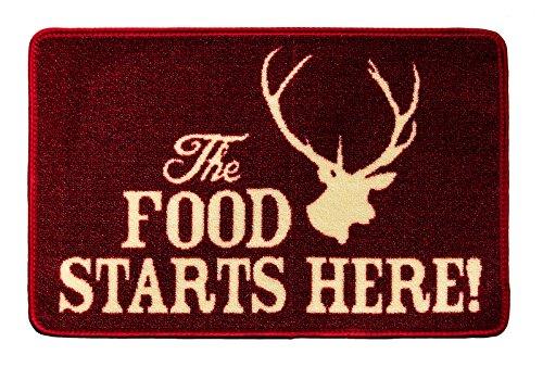 Pet Rebellion The Food Starts Here Futtermatte für Haustiere, Rot