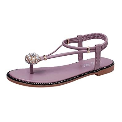 e89bebe5d48 Women Sandals ❤ Women Bohemian Pearl Sandals Summer Fashion Diamond Sandals  Flat Sandals ❤ Women s Summer
