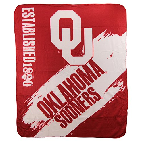 The Northwest Company NCAA Collegiate School Logo Fleece Blanket (Oklahoma - Oklahoma Sooners Logos