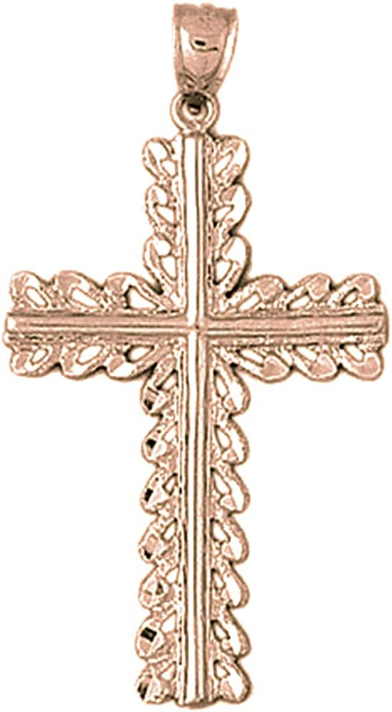 JewelsObsession Sterling Silver 47mm Crucifix Charm w//Lobster Clasp