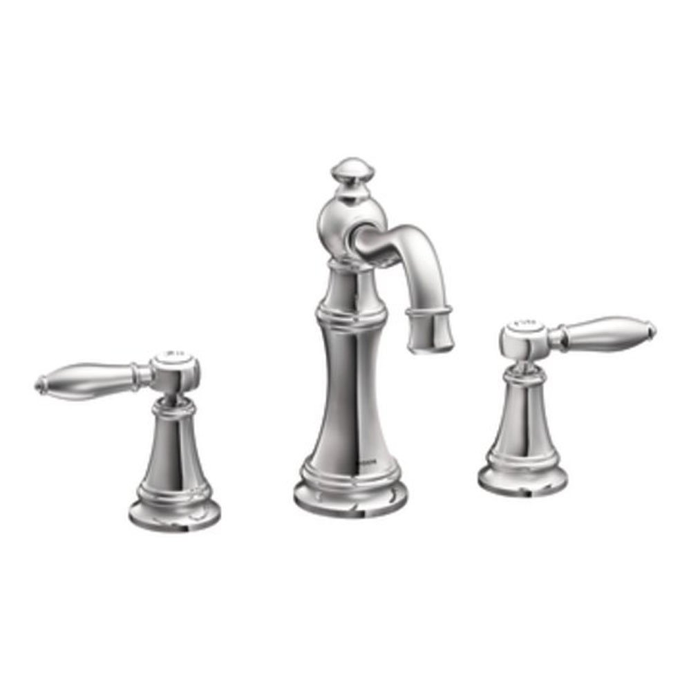Amazon.com: Moen TS42108 Weymouth Two-Handle High Arc Bathroom ...