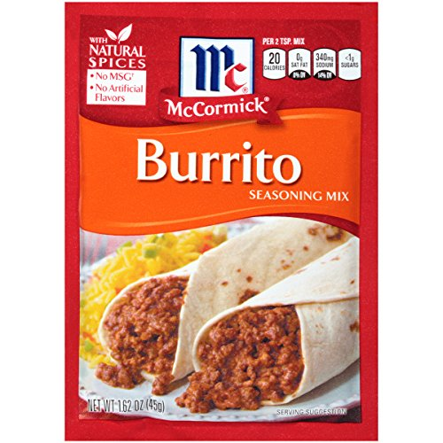 McCormick Burrito Seasoning Mix, 1.62 (Cheese Spaghetti)