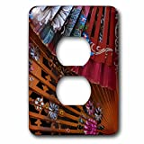 3dRose Danita Delimont - Patterns - Spain, Andalusia. Granada. Hand painted personal fans. - Light Switch Covers - 2 plug outlet cover (lsp_277889_6)