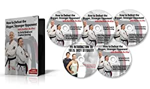 BJJ - 5 DVD Instructional Video Set - How to Defeat the Bigger Stronger Opponent with Brazilian Jiu-Jitsu Series 1, by Emily Kwok and Stephan Kesting. Learn the Techniques, Tricks & Gameplans of a Black Belt World Champion