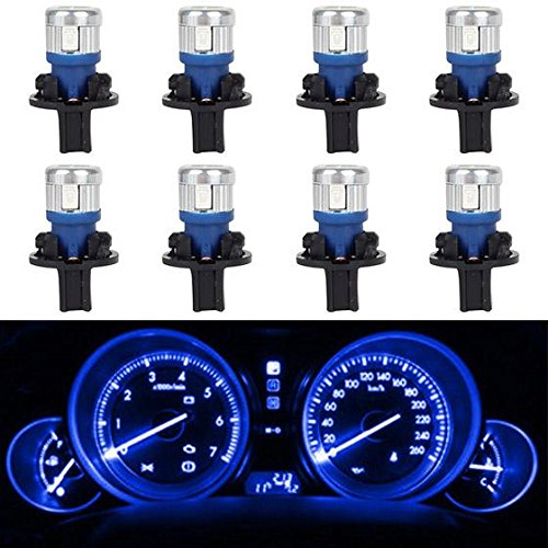 Partsam 8Pcs 168 T10 Speedometer Odometer Tachometer Fuel Gauge High Power 5730 SMD LED Bulb (Corvette Fuel Gauge)