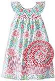 Mud Pie Little Girls' Smocked Snail Dress, Multi, 2T