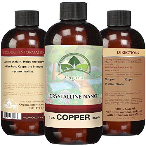 Copper Mineral Water (The BEST Nano Colloidal Copper - 30 PPM of Colloidal Copper - Colloidal Minerals -Colloidal Copper Liquid)