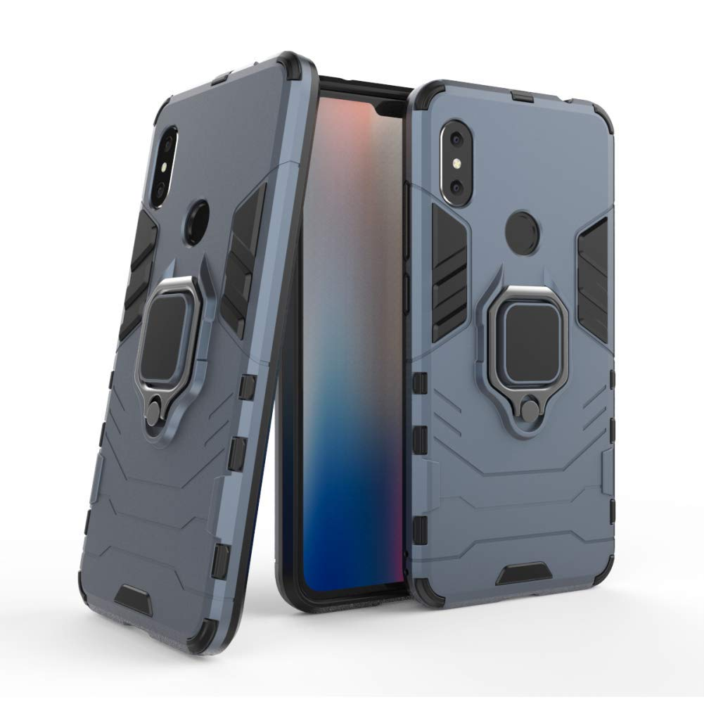 Xiaomi Redmi Note 6 Pro Case DWaybox Iron Man Design 2 in 1 Hybrid Heavy Duty Armor Hard Back Case Cover with Ring Holder for Xiaomi Redmi Note ...
