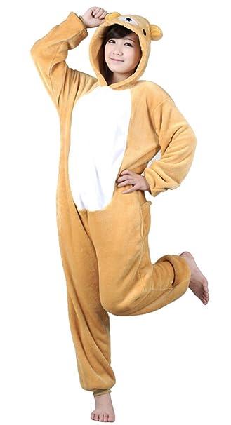 Tonwhar® Oso Kigurumi pijama de una pieza pijama para adultos disfraz