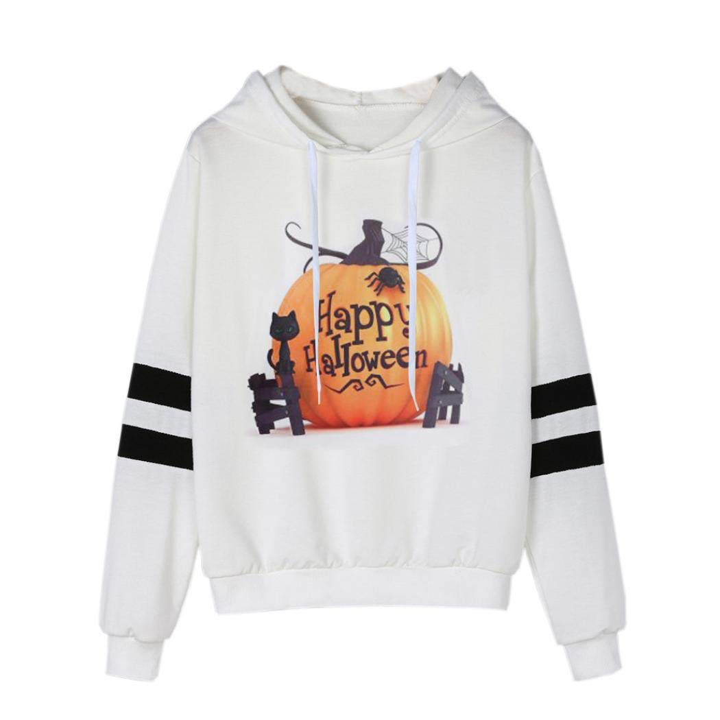 TOOPOOT Sweatshirt Hoodie,Women Halloween Halloween Costumes Pumpkin Costumes Blouse Hoodie Hooded Pullover Tops Blouse