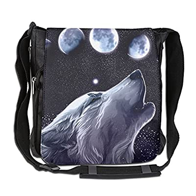 9285138c647d ROCHELLE AYOKO Men s Women s Messenger Bags Wolf Single Shoulder Bags  ConvenienceDrawstring Backpack For Traveling Shopping School