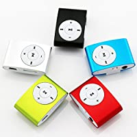 Technomart Clip Style Metal Mp3 Player with Earphone and USB Cable (Multicolour)
