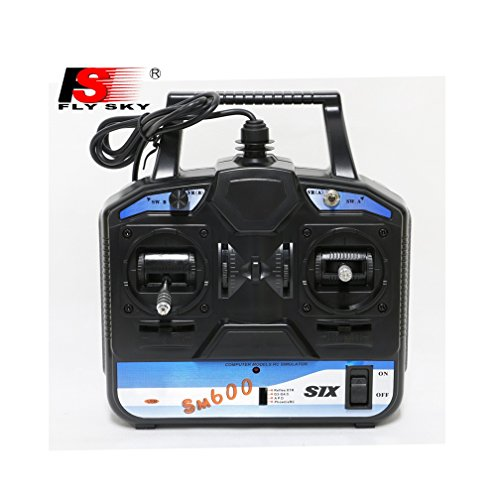 Flysky FS-SM600 6CH USB RC Flying Simulator Connect Computer For Helicopter/Glid/Airplane Left Hand