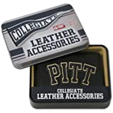NCAA Pittsburgh Panthers Embroidered Genuine Cowhide Leather Trifold Wallet