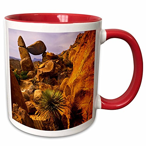 3dRose Danita Delimont - Jerry Ginsberg - Arches - Rock formation creating an arch, Grapevine Hills, Big Bend NP, Texas. - 15oz Two-Tone Red Mug (mug_191049_10)
