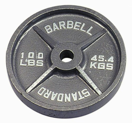 USA Sports Gray Olympic Plate - 100 lbs. by USA Sports