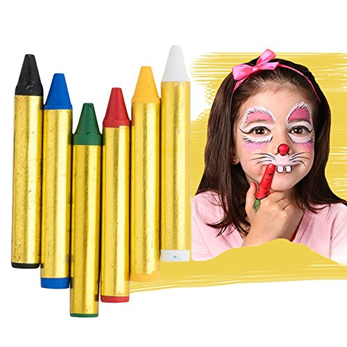 16 Color Face Paint Crayons Safe Non-Toxic Face and Body Crayons Washable Face Paint Crayon Kits for Kids Parties,Festivals,Christmas Children (Toddler Approved Halloween Crafts)