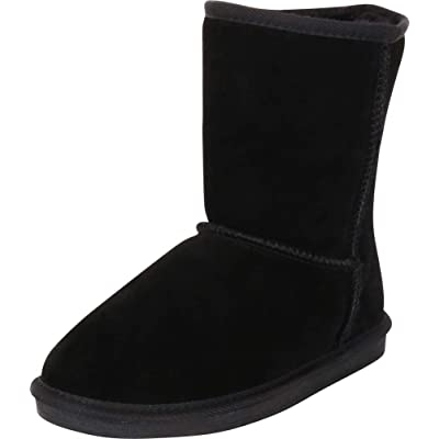 Cambridge Select Women's Classic Genuine Shearling Lined Flat Mid-Calf Boot: Shoes