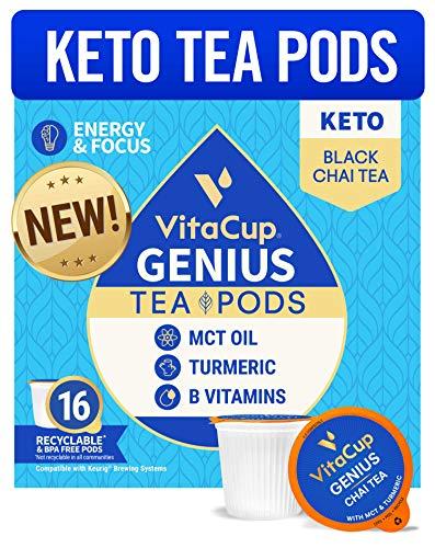 🥇 VitaCup Genius Tea Pods | Energy & Focus | Keto | MCT