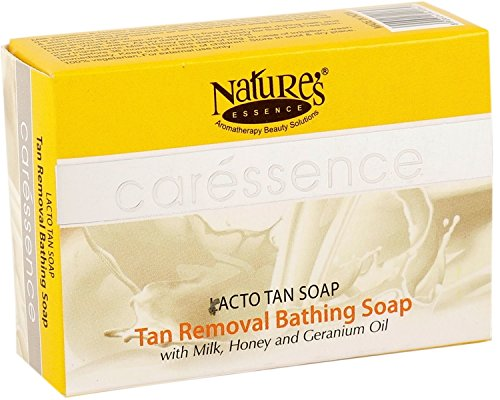Nature's Essence Lacto Tan Soap Pack of 4 2021 June Milk proteins and honey enriched special tan clear soap Remove the epidermal sun tan Restoring the natural fairness of the skin