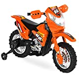 Best Choice Products Kids 6V Ride-On Motorcycle with Training Wheels, Lights/Sounds, Charger, Orange