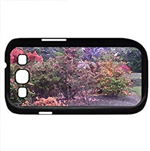 Rhododendrons (Flowers Series) Watercolor style - Case Cover For Samsung Galaxy S3 i9300 (Black)