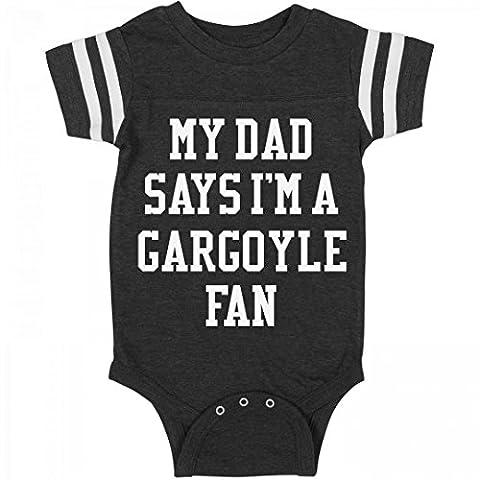 Funny My Dad Says I'm A Gargoyle Fan: Infant Rabbit Skins Football Bodysuit (Funny Gargoyles)