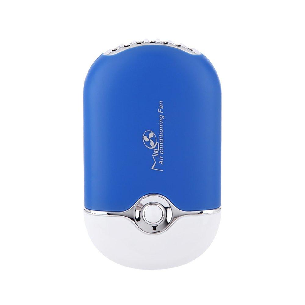 ThreeH Ventilateur portatif de climatiseur Rechargeable dUSB de Mini Ventilateur int/égr/é de Bureau de Batterie de Li-ION portatif F015,Black