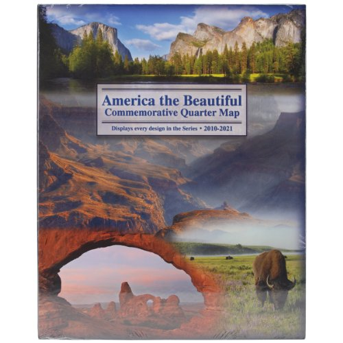 America The Beautiful Commemorative Quarter Map-2010-2021