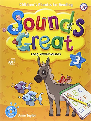 Sounds Great 3, Children's Phonics for Reading - Long Vowel Sounds (with 2 Hybrid CDs) (Long Cd Vowels)
