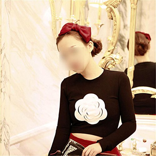 Fashion Sweet Korean Style Big Bowknot Hair Band Bow Headband Hair Accessory Red by foreveryang