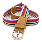 Kids Shcool Elastic Braided Belts For Boys Girls With Buckle...