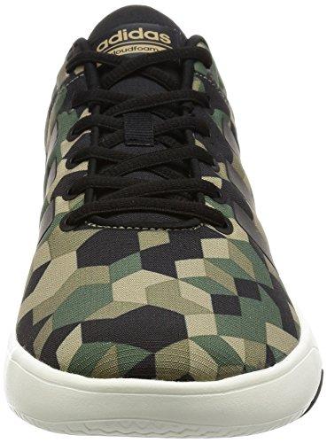 Adidas cloudfoam Swish–Baskets pour homme, vert–(cartra/negbas/stcaqp) 40
