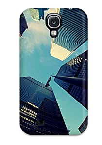 Fashion Protective Fisheye View Of Skyscrapers Iphone 5 Case Cover For Galaxy S4