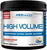 PEScience High Volume Caffeine Free Pump Pre Workout, Paradise Cooler, 245 Gram