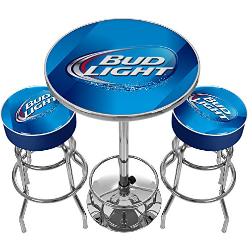 Bud Light Ultimate Gameroom Combo - 2 Bar Stools & Pub Table (Ultimate Buds)