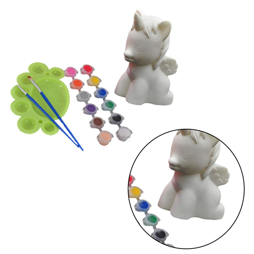 Healifty Kit de Pintura para Pintar Banco Unicornio Sus Propios Regalos del Favor de Partido Unicornio Unicornio Banco de Moneda alcanc/ía