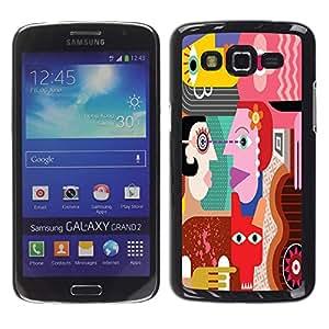 "Dragon Case - FOR Samsung Galaxy Grand 2 - ""?asking for no result - Caja protectora de pl??stico duro de la cubierta Dise?¡Ào Slim Fit"