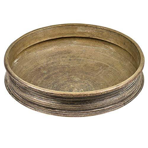 (IndianShelf Handmade Urlis or Vessels Without Handles(Antique_Brass_6 Inches)-1 Piece)