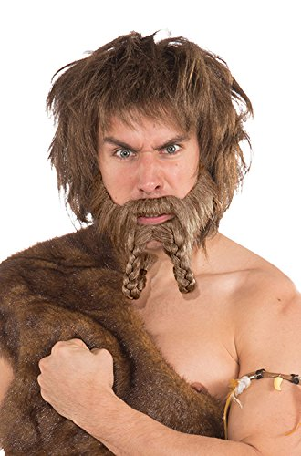 Forum Novelties Men's Novelty Caveman Raider Beard, Brown, One Size]()