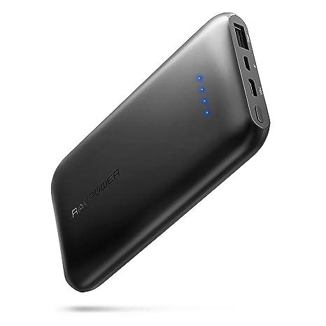 RAVPower 10000mAh Powerbank USB C Ultradünne Externe Akku für iPhone XS Max, XR, iPhone X / 8/7 / 6S / 6, Huawei Handy, Samsu
