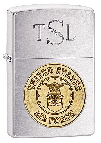 (Personalized Zippo U.S. Air Force Crest Lighter with Free Engraving)