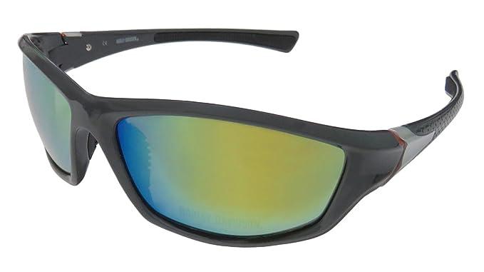 abfb8685fc Harley-Davidson HDS621 GRY-3F - Gafas de sol con lentes de espejo rojo,  color gris oscuro: Amazon.es: Ropa y accesorios