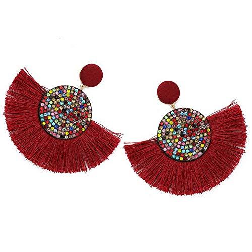 Campton Bohemian Fashion Long Tassel Fringe Dangle Ear Stud Earrings Charm Woman Jewelry | Model ERRNGS - 1125 |