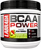 LABRADA NUTRITION - BCAA Power Powder, Fermented Amino Acids with Glutamine & Electrolytes, Muscle Building Post Workout Supplement, Strawberry Kiwi, 30sv