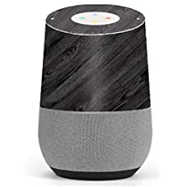 Skin Decal Vinyl Wrap for Google Home stickers skins cover/ Black Wood