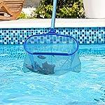Gxhong-Rete-Pulita-per-Piscina-Raccogli-Foglie-Piscine-Kit-Pulizia-Piscine-Retino-con-Sacco-per-Pulizia-Piscina-con-Manico-Alluminio-Lunga-Pool-Skimmer-per-Pulizia-Piscina-Foglie-e-Detriti
