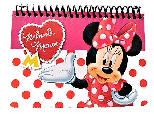 Disney Authentic Licensed Spiral Autograph Book Memo Notepad (Minnie -