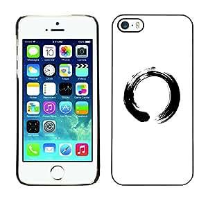 Caucho caso de Shell duro de la cubierta de accesorios de protección BY RAYDREAMMM - iPhone 5 / 5S - Símbolo chino del Círculo