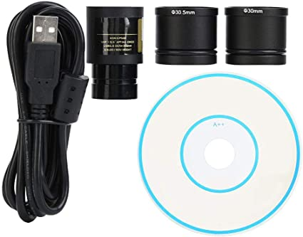 30.0mm 30.5mm Adapter Ring Drive Free Plug and Play 23.2mm Digital Eyepiece Vbestlife 5MP USB 2.0 Microscope Electronic Eyepiece